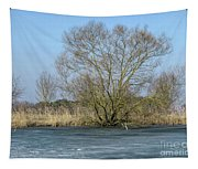 Tree On Frozen Lake Tapestry
