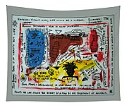 Tribute To Basquiat, Philosophy, And Activism Tapestry