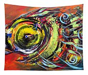 Triple Crown Blue Eyed Horse Faced Fish Tapestry