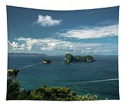 Tropical Island In The Ocean Tapestry