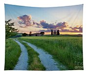 Tuscan Sunset Tapestry