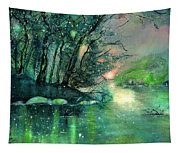 Twilight At The River Rhine Tapestry