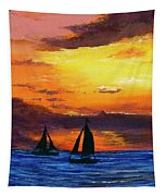 Two Sailboats Tapestry by Darice Machel McGuire