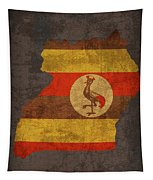 Uganda Country Flag Map Tapestry