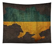 Ukraine Country Flag Map Tapestry