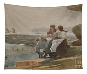 Under The Cliff, Cullercoats , 1881 Tapestry