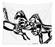 Untitled  Three Horses Tapestry