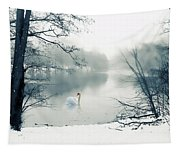 Swan Song Blue Tapestry