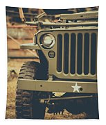 Us Army Jeep World War II Tapestry