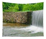 Valley Creek Waterfall Panorama Tapestry