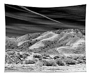 Valley Of Fire Black White Nevada  Tapestry