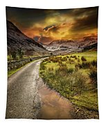 Valley Sunset Snowdonia Tapestry