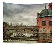 Vallo Castle Wooden Moat Bridge Tapestry