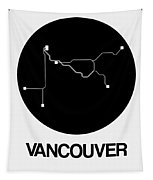 Vancouver Black Subway Map Tapestry