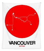 Vancouver Red Subway Map Tapestry