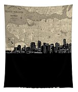 Vancouver Skyline Map Tapestry