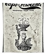 Vapo-cresolene Vaporizer Original Packaging Black And White Tapestry