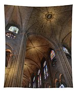 Vaults Of Notre Dame De Paris Before The Fire Of 2019 Tapestry