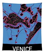Venice City Map Tapestry by Helge
