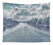View From Kingston Bridge Tapestry