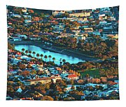 View Of Molteno Reservoir - Cape Town Tapestry