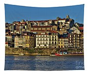 View Of Porto And Douro River Tapestry