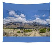 View Of Sandia Mountain Tapestry