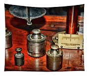 Vintage Apothecary Pharmacist Weights And Scale Tapestry