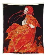 Vintage Art Deco Fashion Poster Tapestry