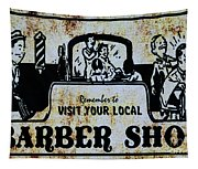 Vintage Barber Sign From The 1950s Tapestry