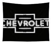 Vintage Chevrolet Neon Sign Tapestry