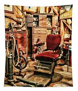 Vintage Dentist Office And Drill Tapestry