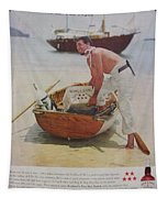 Vintage Haig And Haig Whiskey Advertisement Tapestry