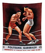 Vintage Italian Boxing Poster Tapestry