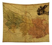 Vintage Map Of Bengal Tapestry