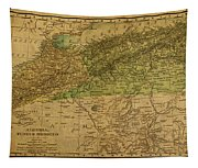 Vintage Map Of North Africa Including Morocco Algeria And Tunisia 1901 Tapestry