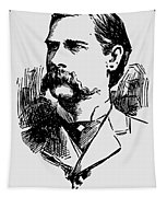 Vintage Newspaper Wyatt Earp Portrait 1896 - T-shirt Tapestry
