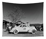 Vintage Race Car Gold King Mine Ghost Town Tapestry