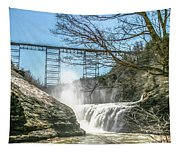 Vintage Train Trestle With Waterfalls Tapestry