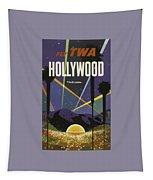 Vintage Travel Poster - Hollywood Tapestry