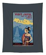 Vintage Travel Poster - Java Tapestry