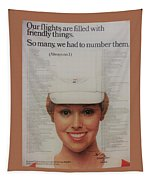 Vintage United Airlines Ad Tapestry