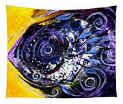 Violet Tri Fish Tapestry