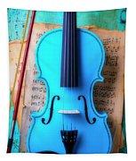 Violin Blues Tapestry
