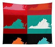 Virginia Pop Art Map Tapestry