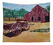 Wagons And Barns Tapestry