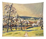 Warm Spring Light In The Fruit Orchard Tapestry