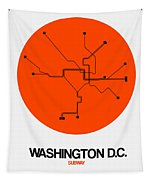 Subway Map Tapestry.Washington D C Orange Subway Map Acrylic Print