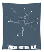 Washington, D.c Subway Map Tapestry