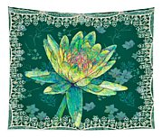 Water Lily And Lace Tapestry